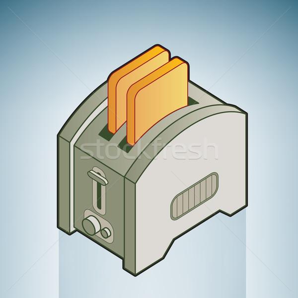 хлеб тостер кухне изометрический 3D Сток-фото © Vectorminator
