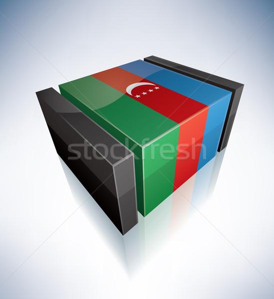 3D bandera Azerbaiyán Asia república banderas Foto stock © Vectorminator