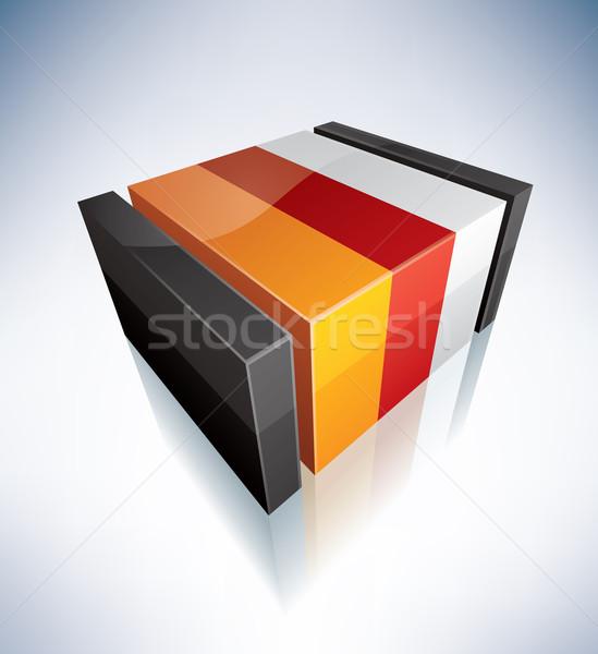 3D flag of South Ossetia Stock photo © Vectorminator