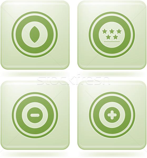 Cuadrados resumen iconos de la web general Foto stock © Vectorminator