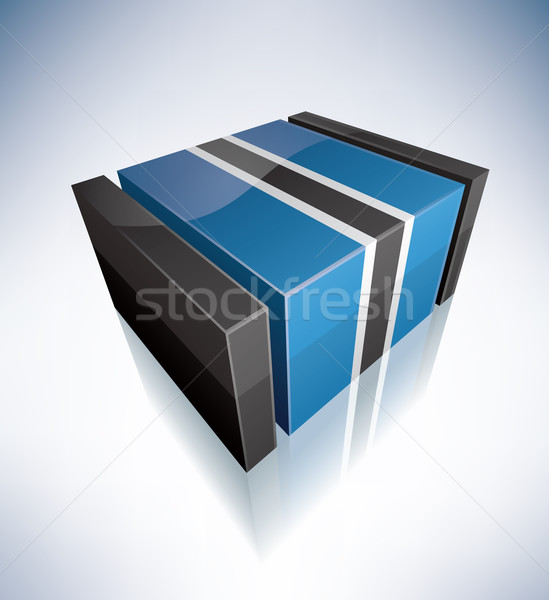 Stock photo: 3D flag of Botswana