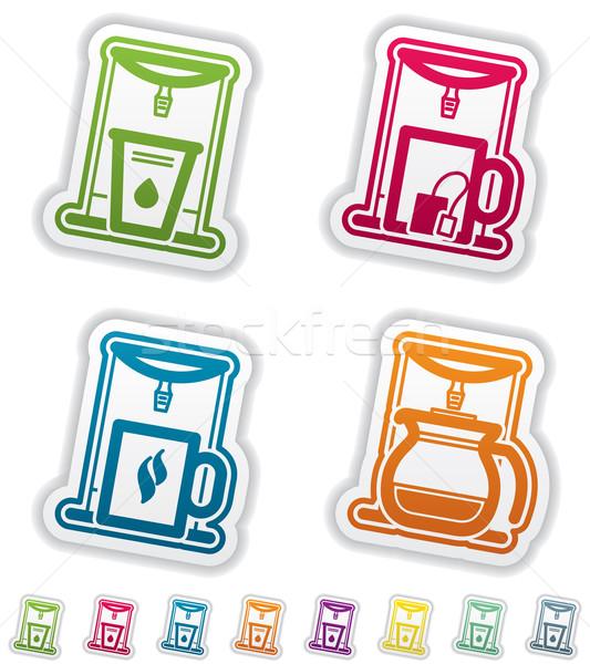 Stock fotó: Iroda · ellátás · tárgyak · víz · tea · kávéfőző