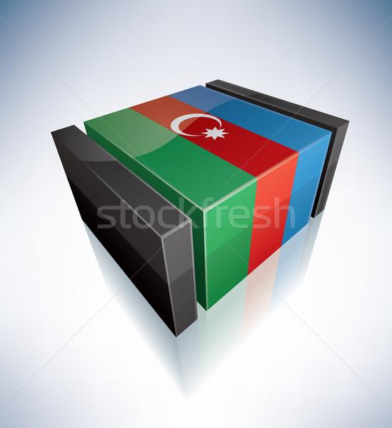 3D flag of Azerbaijan Stock photo © Vectorminator