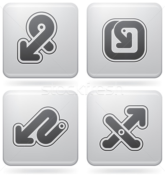 платина иконки круга икона квадратный Сток-фото © Vectorminator