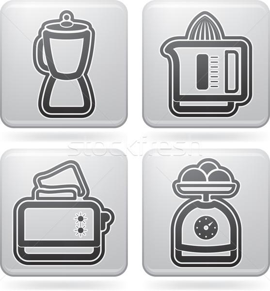 Vegetarisch eten huis objecten toaster Stockfoto © Vectorminator
