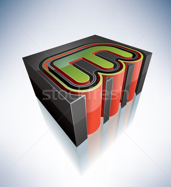 3D письма алфавит Сток-фото © Vectorminator