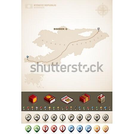 Грузия Азии карт дополнительно набор Сток-фото © Vectorminator