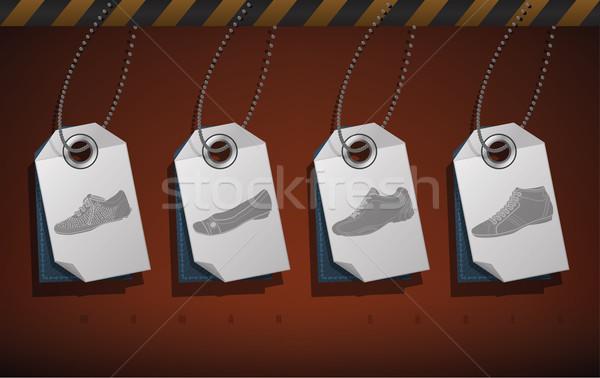 обувь элегантный белый Сток-фото © Vectorminator