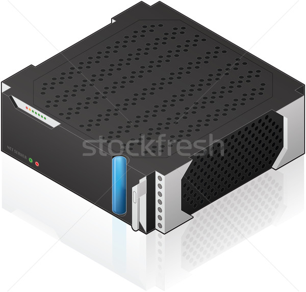 Medium Size Server Rack Module Stock photo © Vectorminator