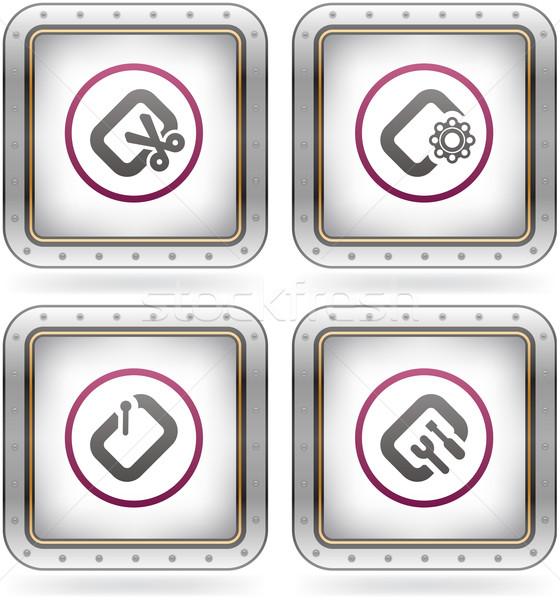 コンピュータソフトウェア ハードウェア アイコン コンピュータ ソフトウェア ストックフォト © Vectorminator