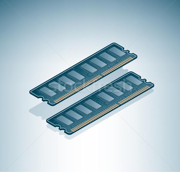 Сток-фото: чипов · изометрический · 3D · компьютер · аппаратных