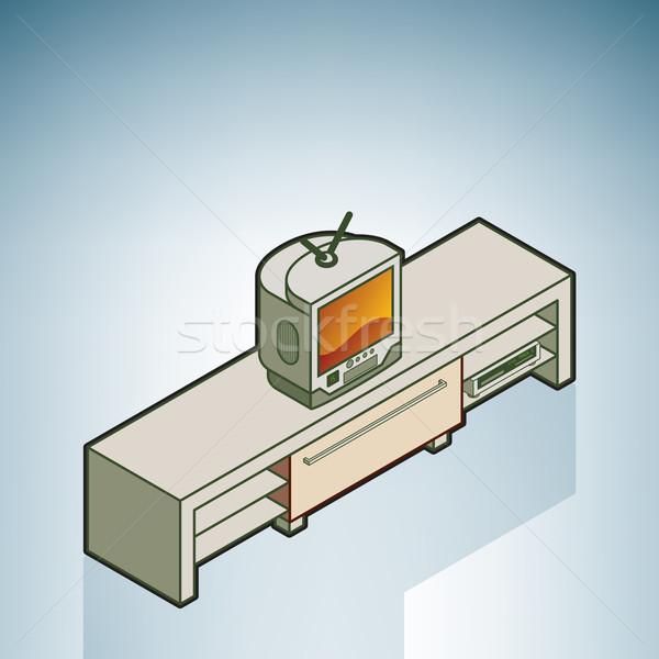 TV Sideboard Stock photo © Vectorminator