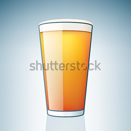 Light Beer Glass Stock photo © Vectorminator