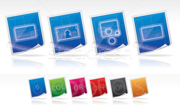 служба поставлять вектора цветами Сток-фото © Vectorminator