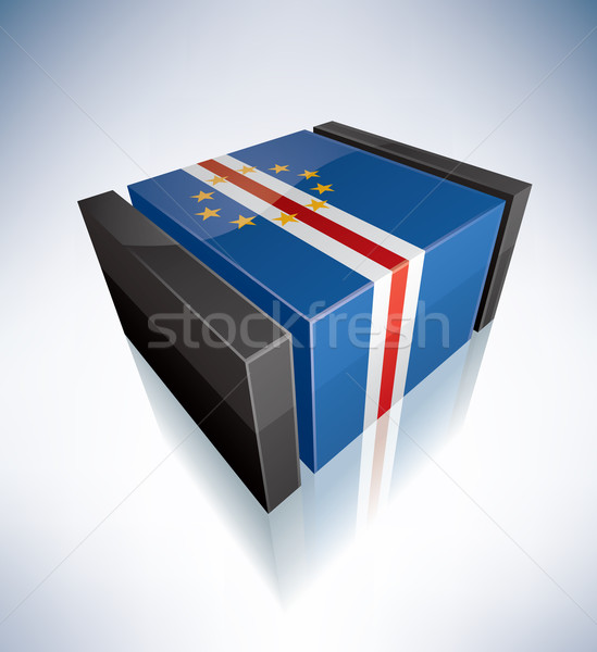 3D flag of Cape Verde Stock photo © Vectorminator
