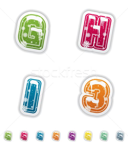 Winter digits & capital letters Stock photo © Vectorminator
