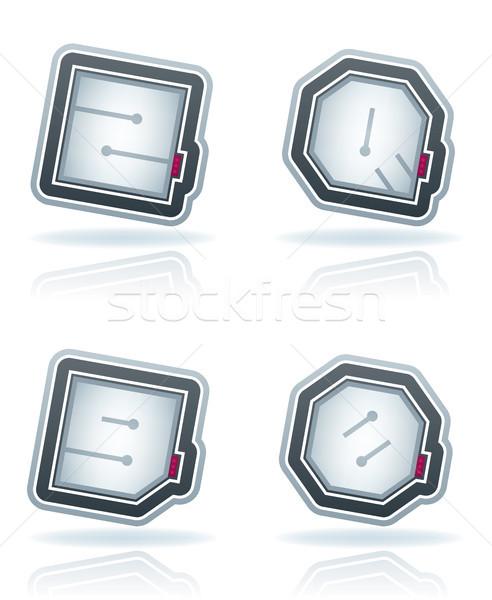 письма нуля пузыря Сток-фото © Vectorminator