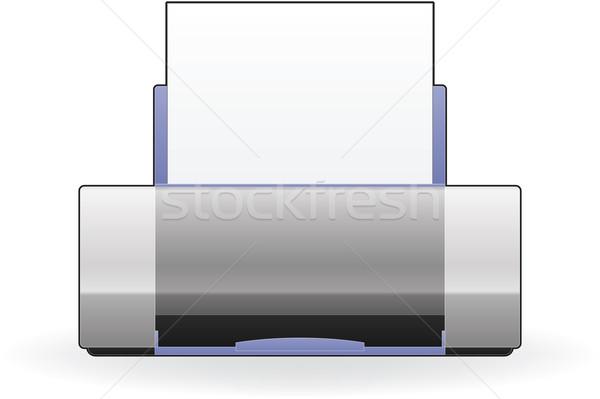 Inkjet printer home kleur foto Stockfoto © Vectorminator