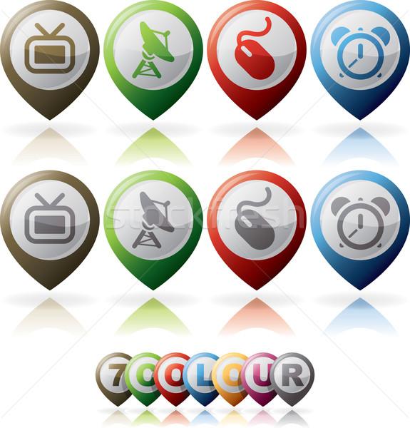 Internet pictogrammen internet web icons ingesteld hier Stockfoto © Vectorminator