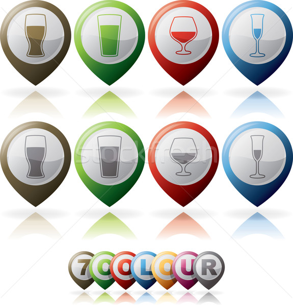 Alcohol glasses Stock photo © Vectorminator