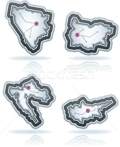 Simple país iconos icónico diseno países Foto stock © Vectorminator