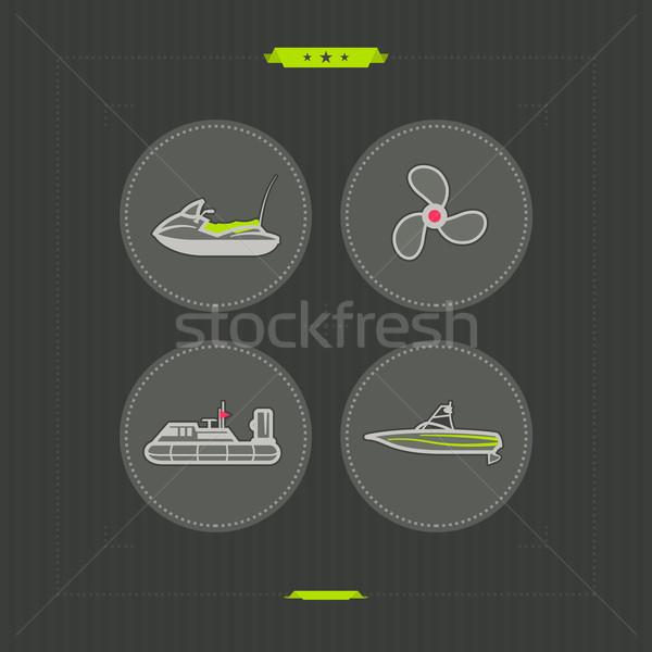 Schepen boten vector iconen ander Stockfoto © Vectorminator