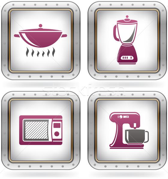 Сток-фото: кухне · повседневный · инструменты · котелок · с · выпуклым · днищем · продовольствие
