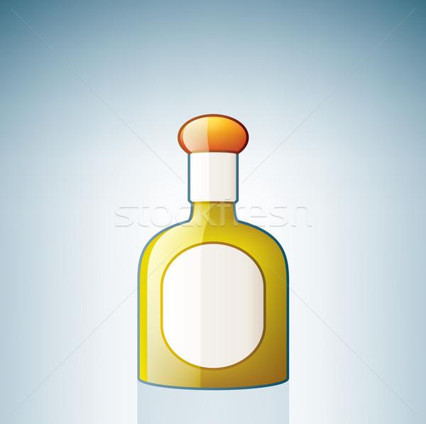 Tequila botella alcohol vidrio azul Foto stock © Vectorminator