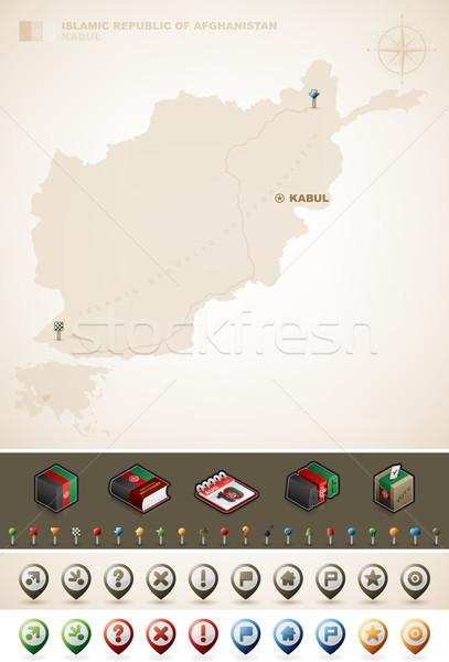 Cumhuriyet Afganistan güney amerika haritaları Stok fotoğraf © Vectorminator
