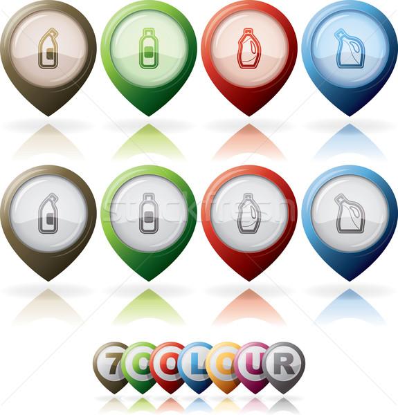 Temizlik nesneler doğru çamaşır suyu şişe Stok fotoğraf © vectorminator