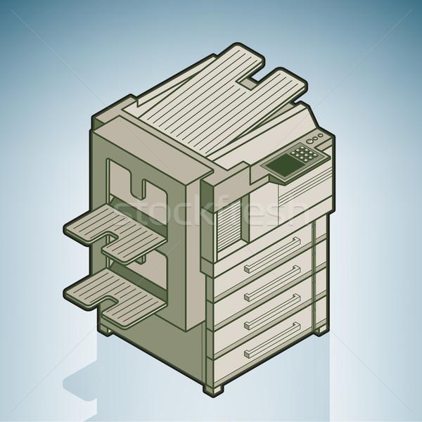 Büyük ofis modern mobilya izometrik 3D Stok fotoğraf © Vectorminator