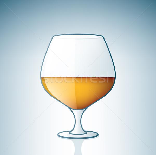 アルコール ガラス ドリンク 白 ボタン ストックフォト © Vectorminator