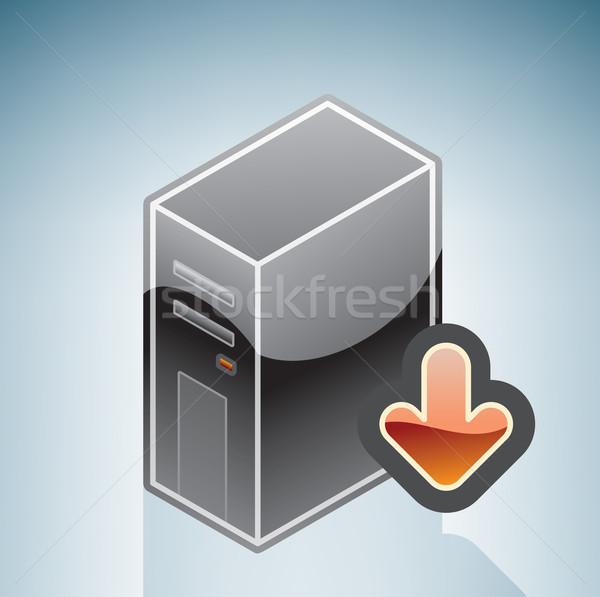 Сток-фото: интернет · программное · скачать · изометрический · 3D · компьютер