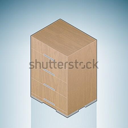Furniture: Bedroom Cupboard Stock photo © Vectorminator