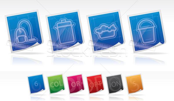 очистки другой инструменты право пылесос отходов Сток-фото © Vectorminator