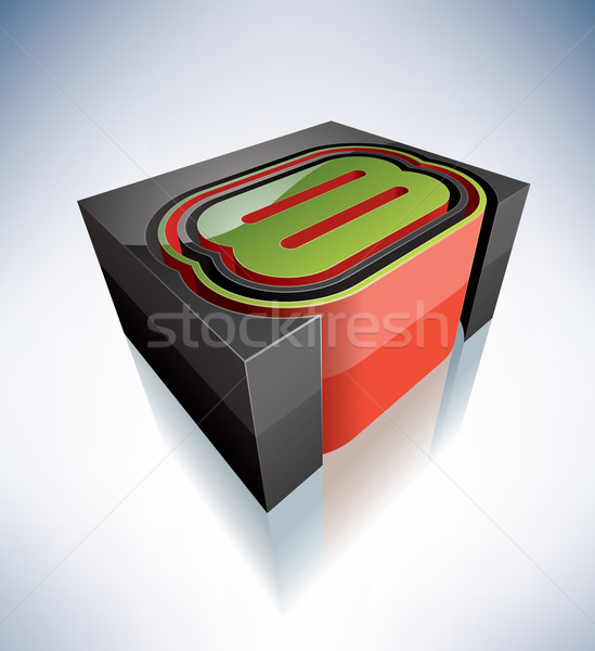 3D digits: 8 Stock photo © Vectorminator