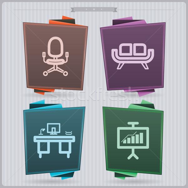 Ufficio fornire casa oggetti sedia da ufficio Foto d'archivio © Vectorminator