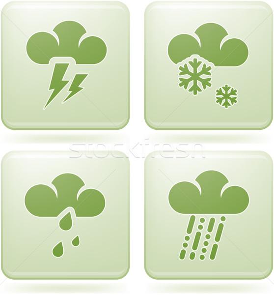 Сток-фото: квадратный · погода · Стрелки · иконки
