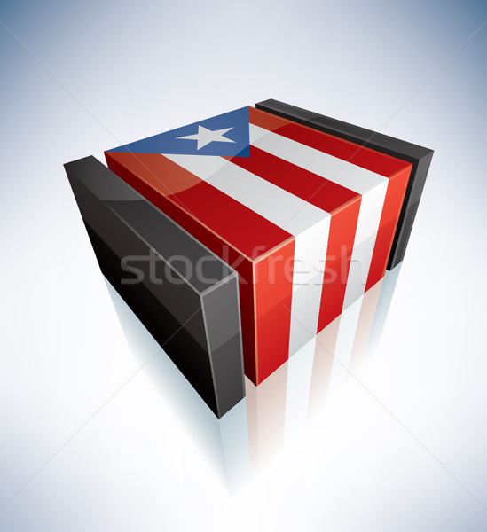 3D flag of Commonwealth of Puerto Rico Stock photo © Vectorminator