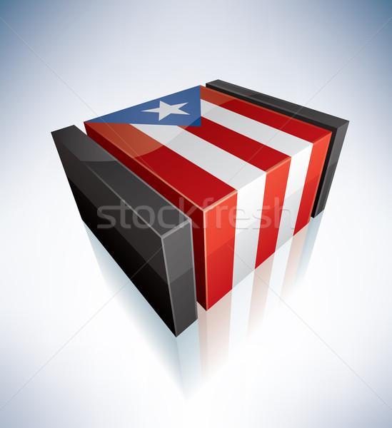 3D flag of Commonwealth of Puerto Rico Stock photo © Vectorminator