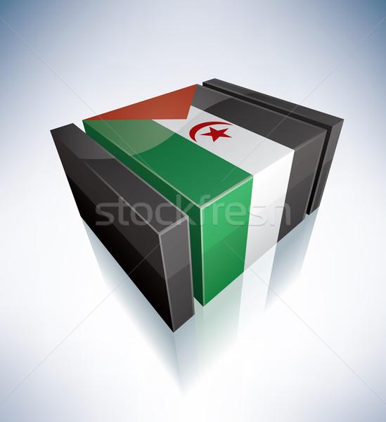 3D vlag westerse sahara afrika vlaggen Stockfoto © Vectorminator