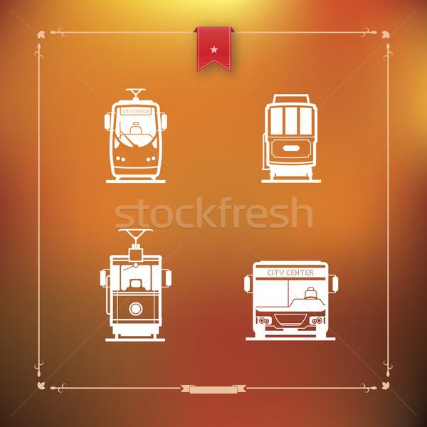 транспорт общественном транспорте различный землю здесь Сток-фото © Vectorminator