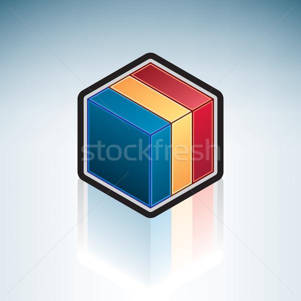 República Chad África bandera 3D Foto stock © Vectorminator