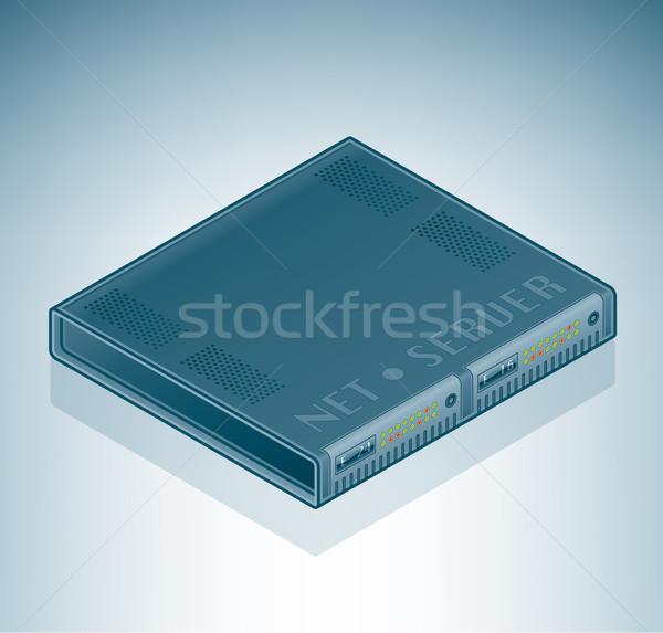 Sunucu birim izometrik 3D bilgisayar donanım Stok fotoğraf © Vectorminator