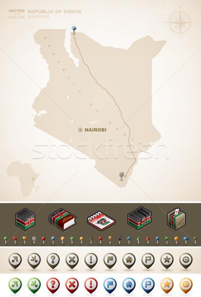 Кения республика Африка карт дополнительно Сток-фото © Vectorminator