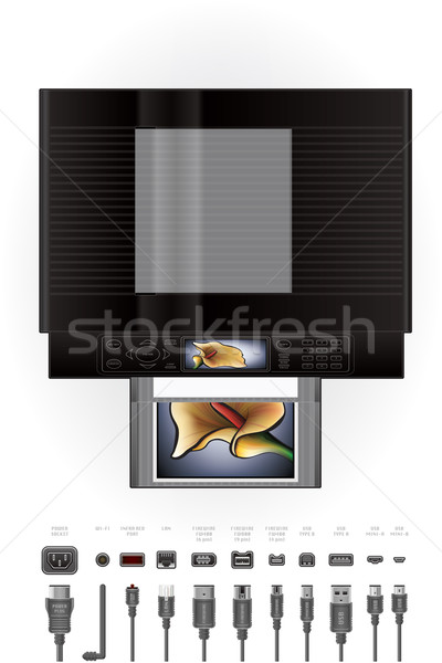 Office InkJet Printer/Photocopier Stock photo © Vectorminator
