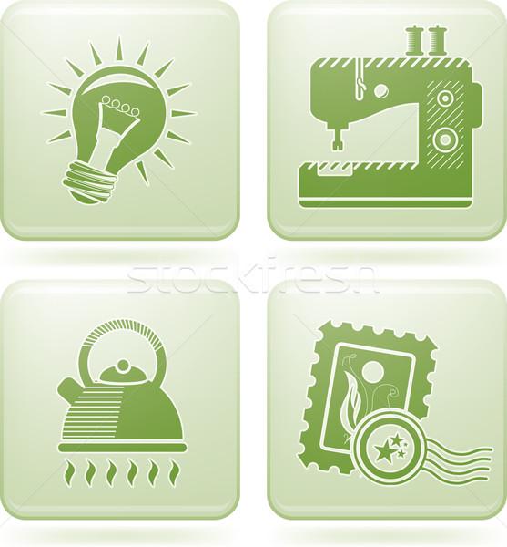 Сток-фото: квадратный · вектора · иллюстратор · версия · прибыль · на · акцию