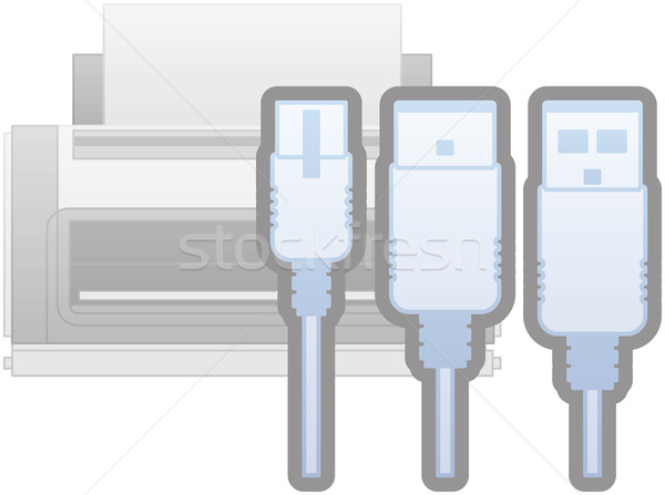 Printer Interfaces Icon Stock photo © Vectorminator
