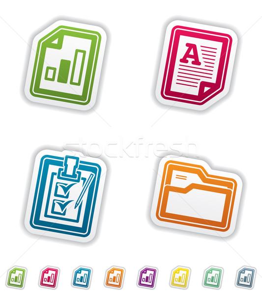Biuro zaopatrywać obiektów arkusz kalkulacyjny tekst dokumentu Zdjęcia stock © Vectorminator