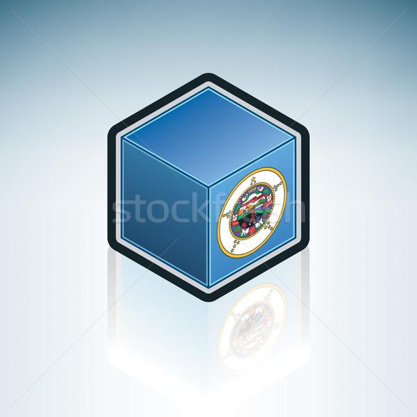 ミネソタ州 フラグ 米国 アメリカ 3D アイソメトリック ストックフォト © Vectorminator